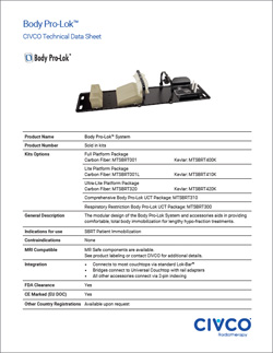 Body Pro-Lok™ Exact® IGRT/CT Rails-Only Technical Data Sheet