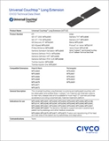 Universal Couchtop Long Extension Technical Data Sheet